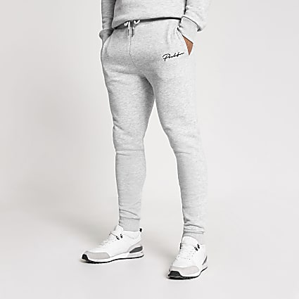 Prolific grey muscle fit joggers