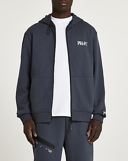 Prolific grey oversized fit hoodie