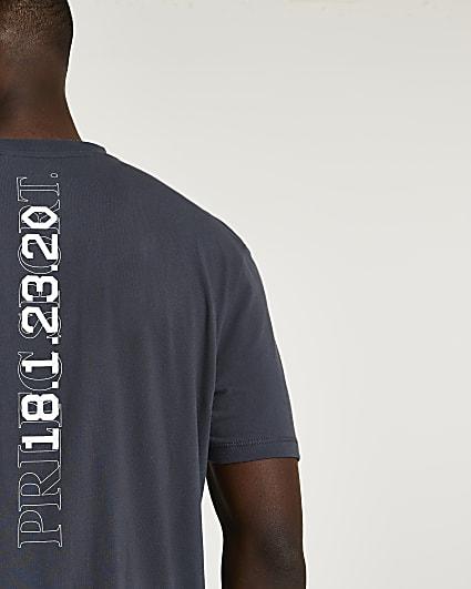 Prolific grey regular fit active t-shirt