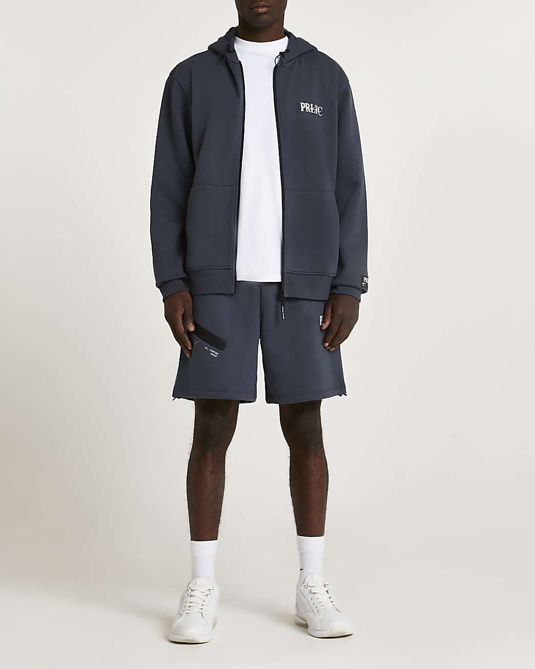 Prolific grey regular fit shorts