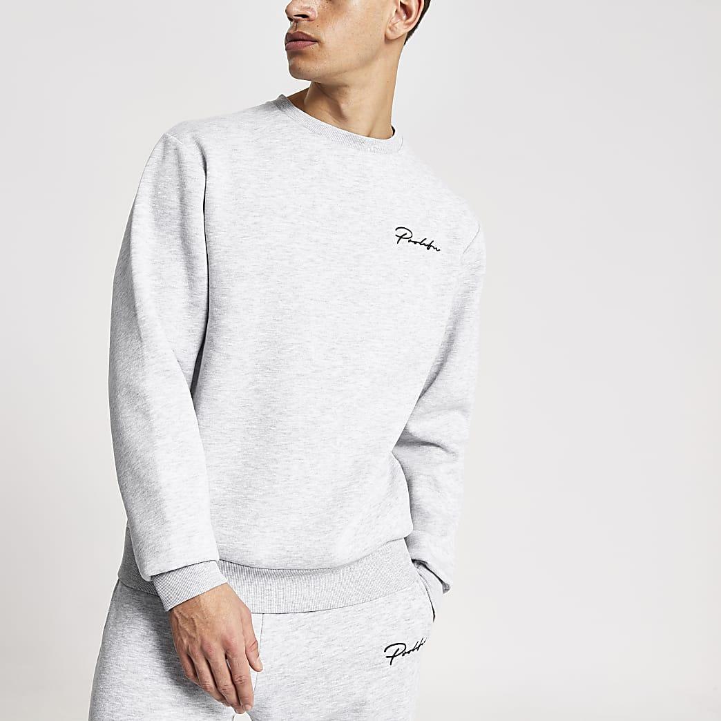 Prolific - Grijze regular fit sweater