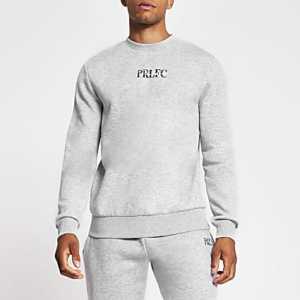 Prolific grey slim fit crew sweatshirt