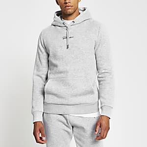 Prolific - Grijze slim-fit hoodie
