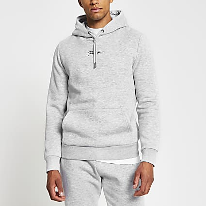 Prolific grey slim fit hoodie