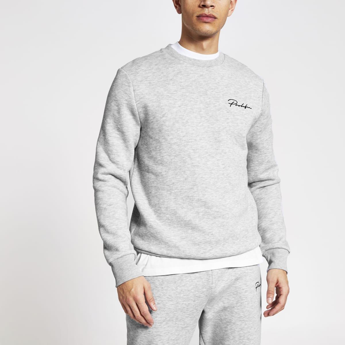 Prolific - Grijze slim-fit sweater