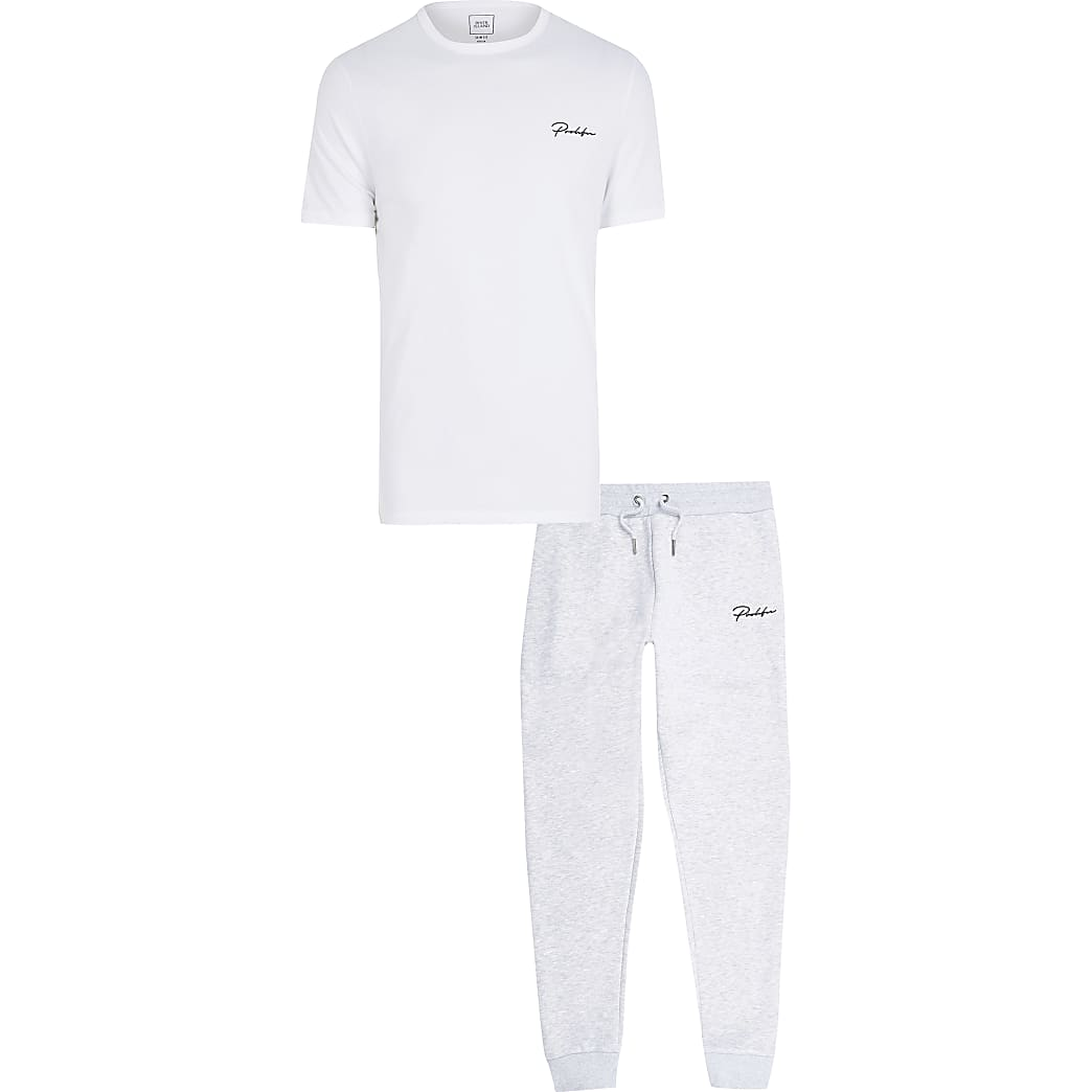 Prolific grey t-shirt and jogger set
