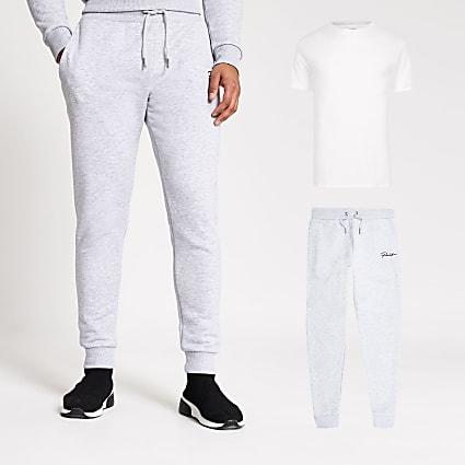 Prolific grey t-shirt and joggers set