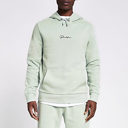 Prolific light green slim fit hoodie