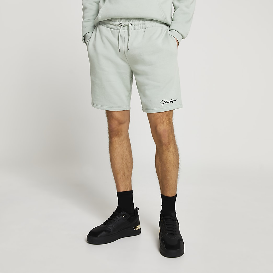 Prolific light green slim fit shorts