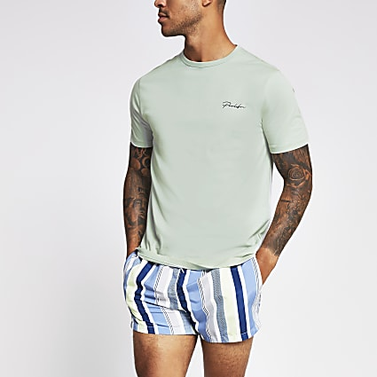 Prolific light green slim fit T-shirt