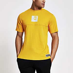 Prolific mustard regular fit T-shirt