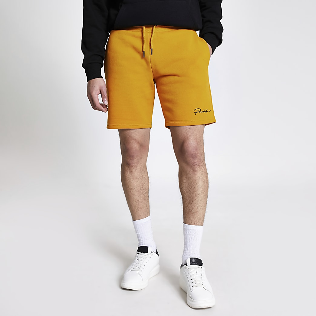 Prolific mustard slim fit shorts