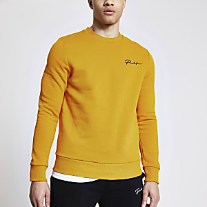 Prolific - Mosterdgele slim-fit sweater