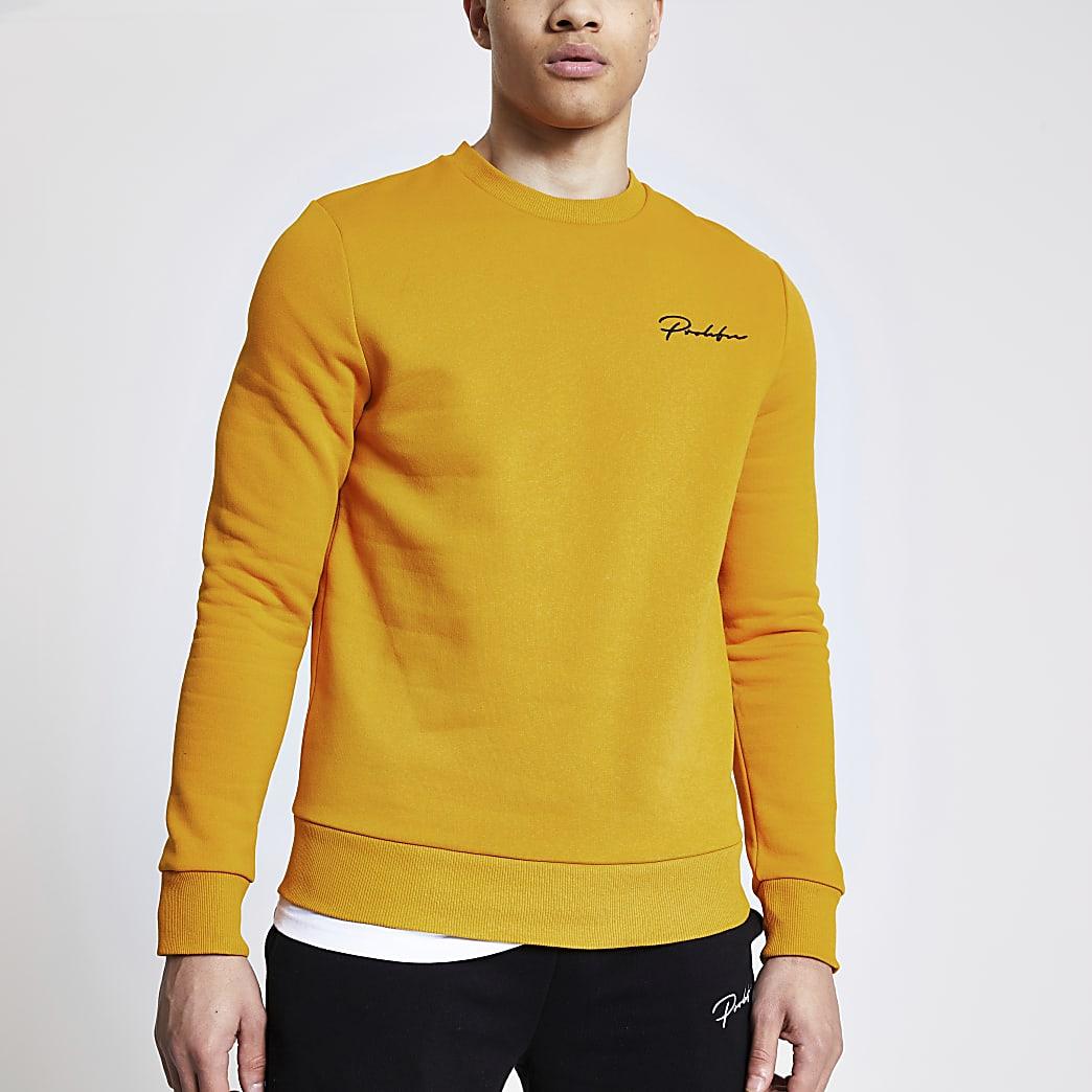 Prolific - Mosterdgele slim-fit sweater