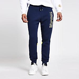Prolific – Pantalon de jogging bleu marine colour block