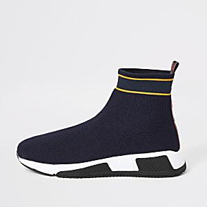 Prolific – Marineblaue Sock-Sneaker mit High-Top-Sohle