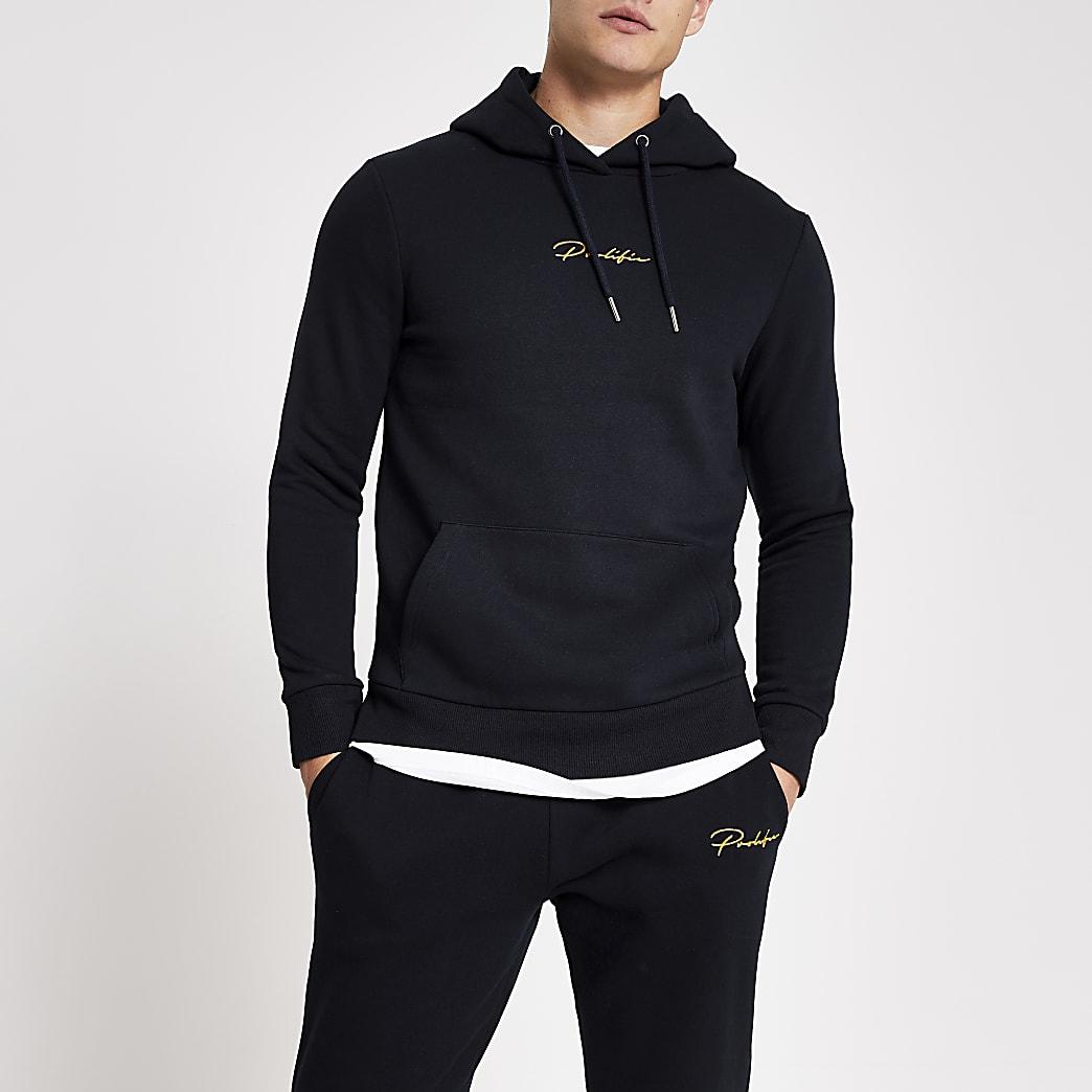 Prolific navy slim fit hoodie