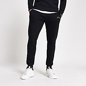 Prolific navy slim fit joggers