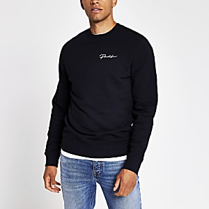 Prolific navy slim fit sweatshirt