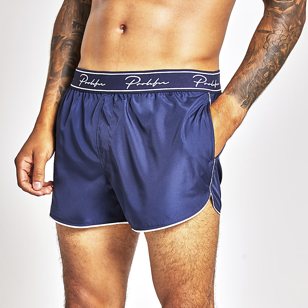 Prolific navy waistband swim shorts