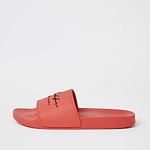 Prolific - Oranje slippers met reliëf