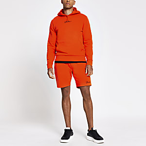 Prolific orange slim fit shorts
