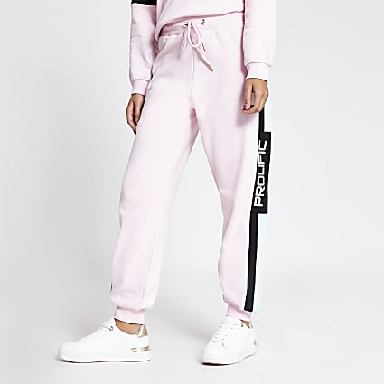Prolific pink colour blocked joggers