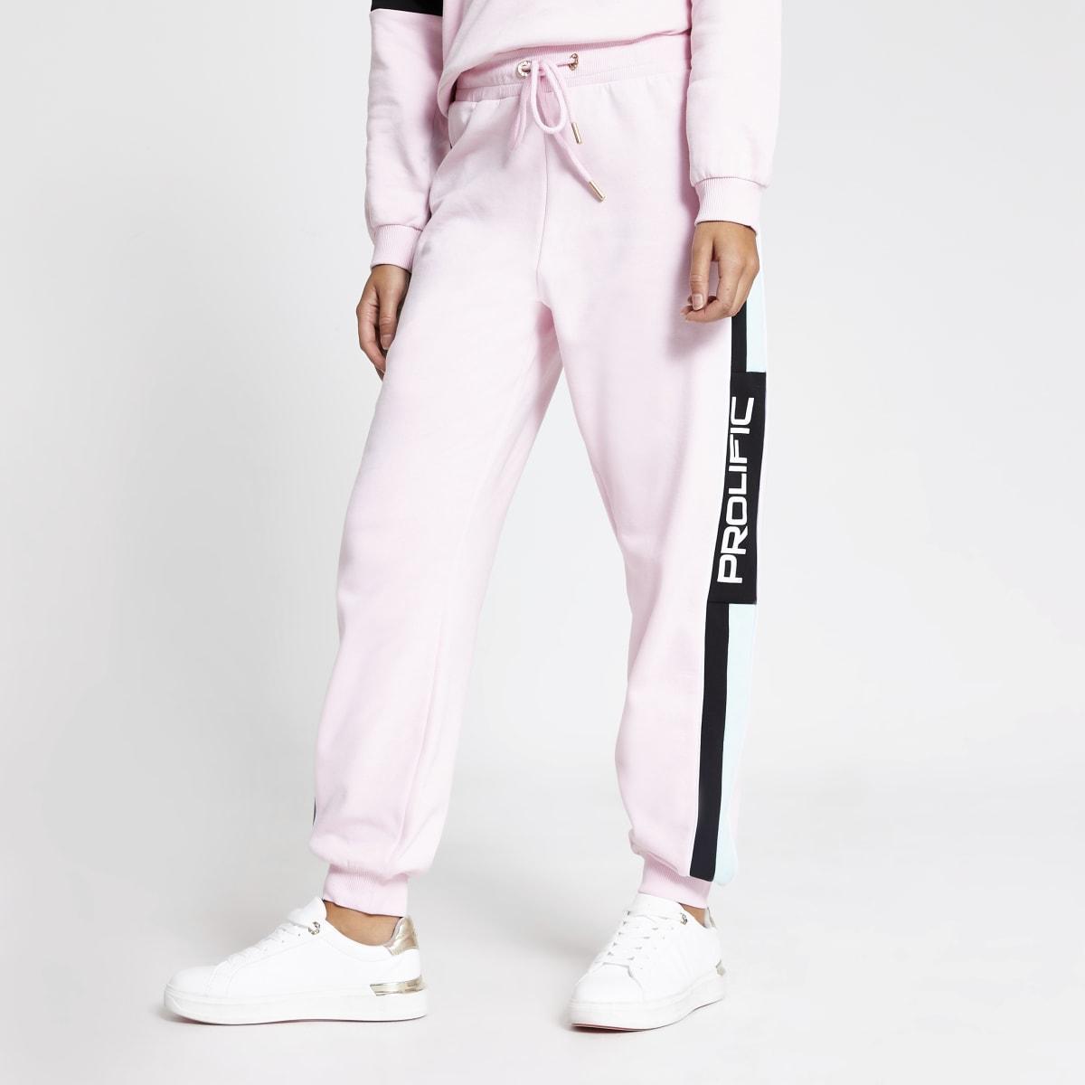 Prolific– Pinke Jogginghose in Blockfarben