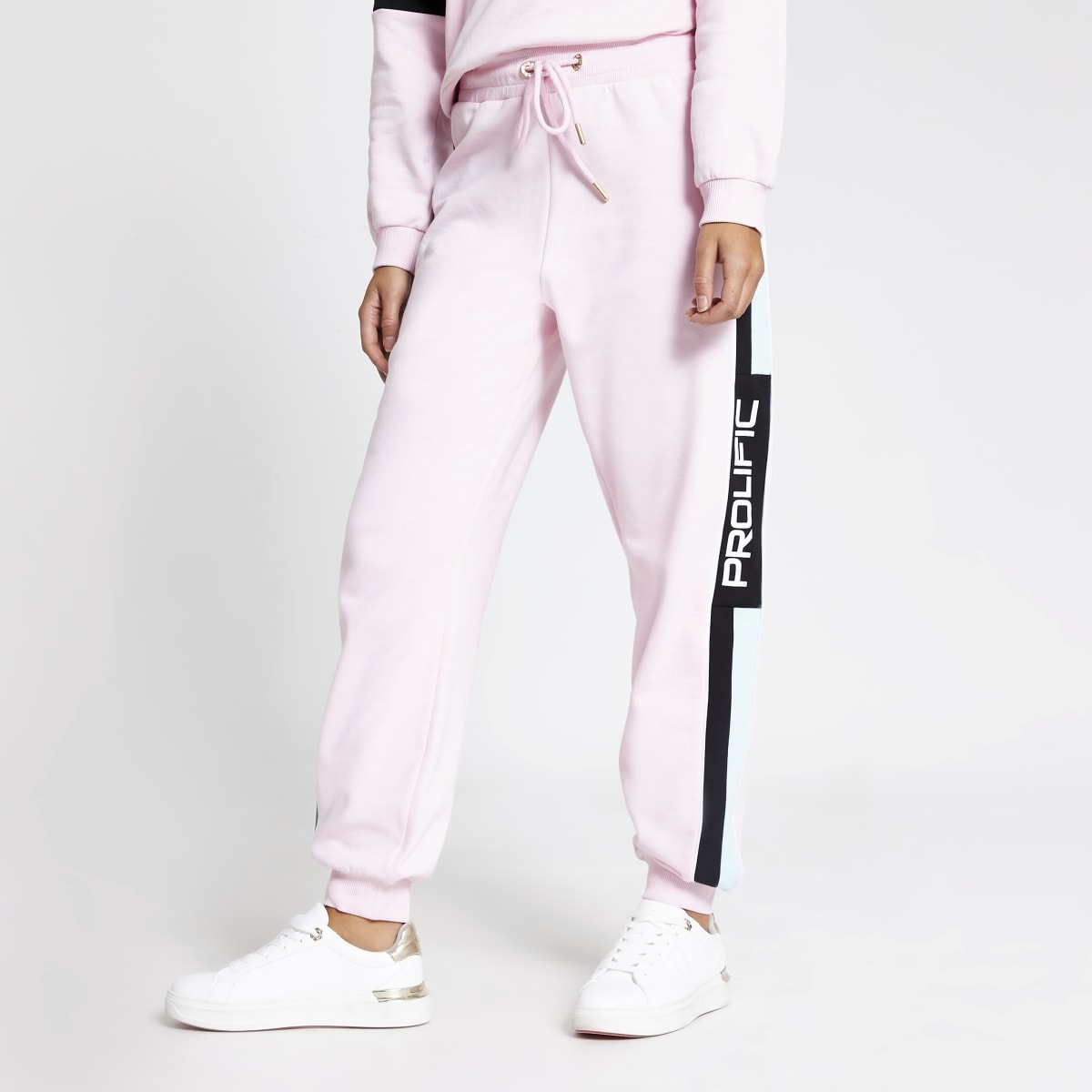 Prolific - Roze joggingbroek met kleurvlakken