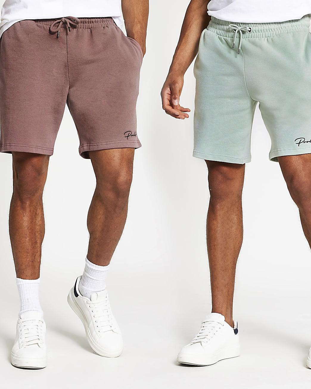 Prolific pink slim jersey short 2 pack
