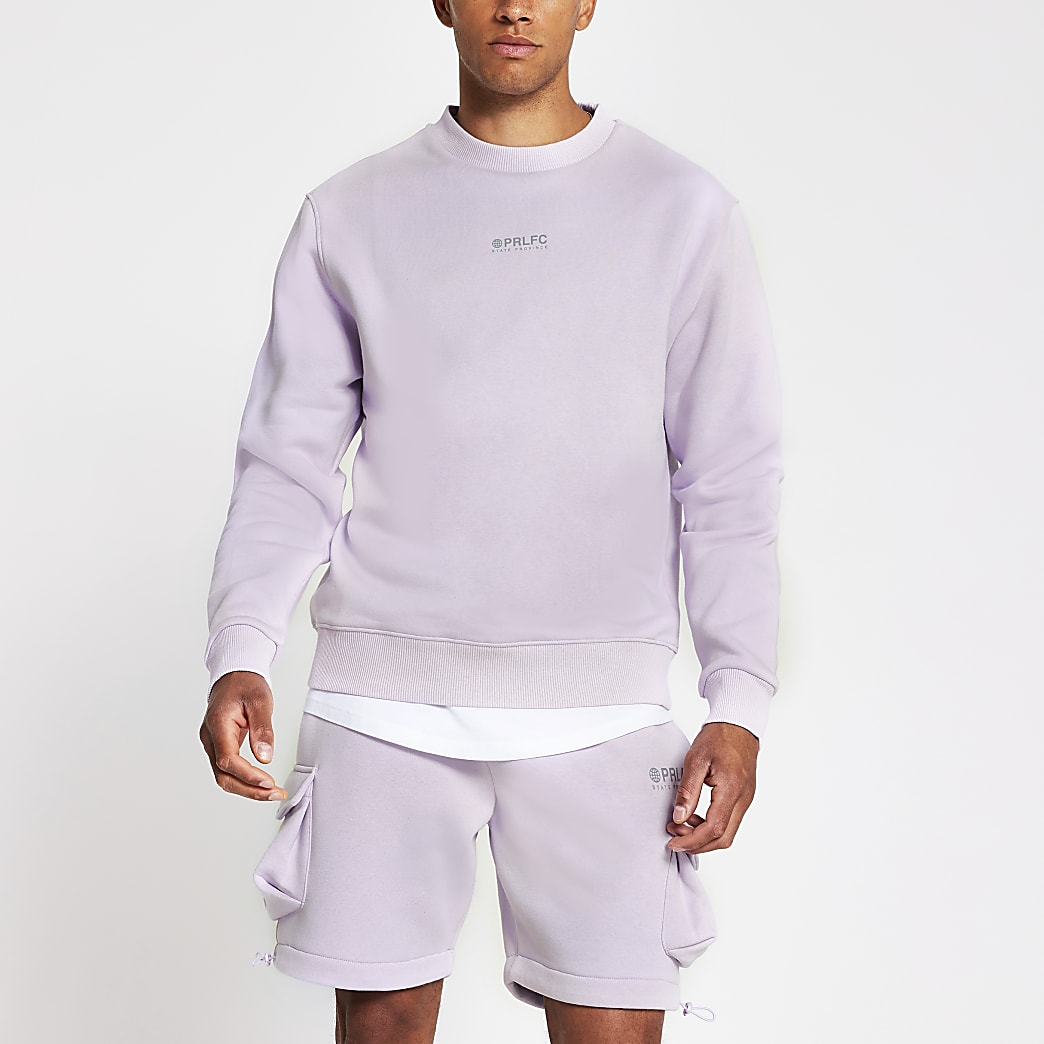 Prolific purple reflective sweatshirt
