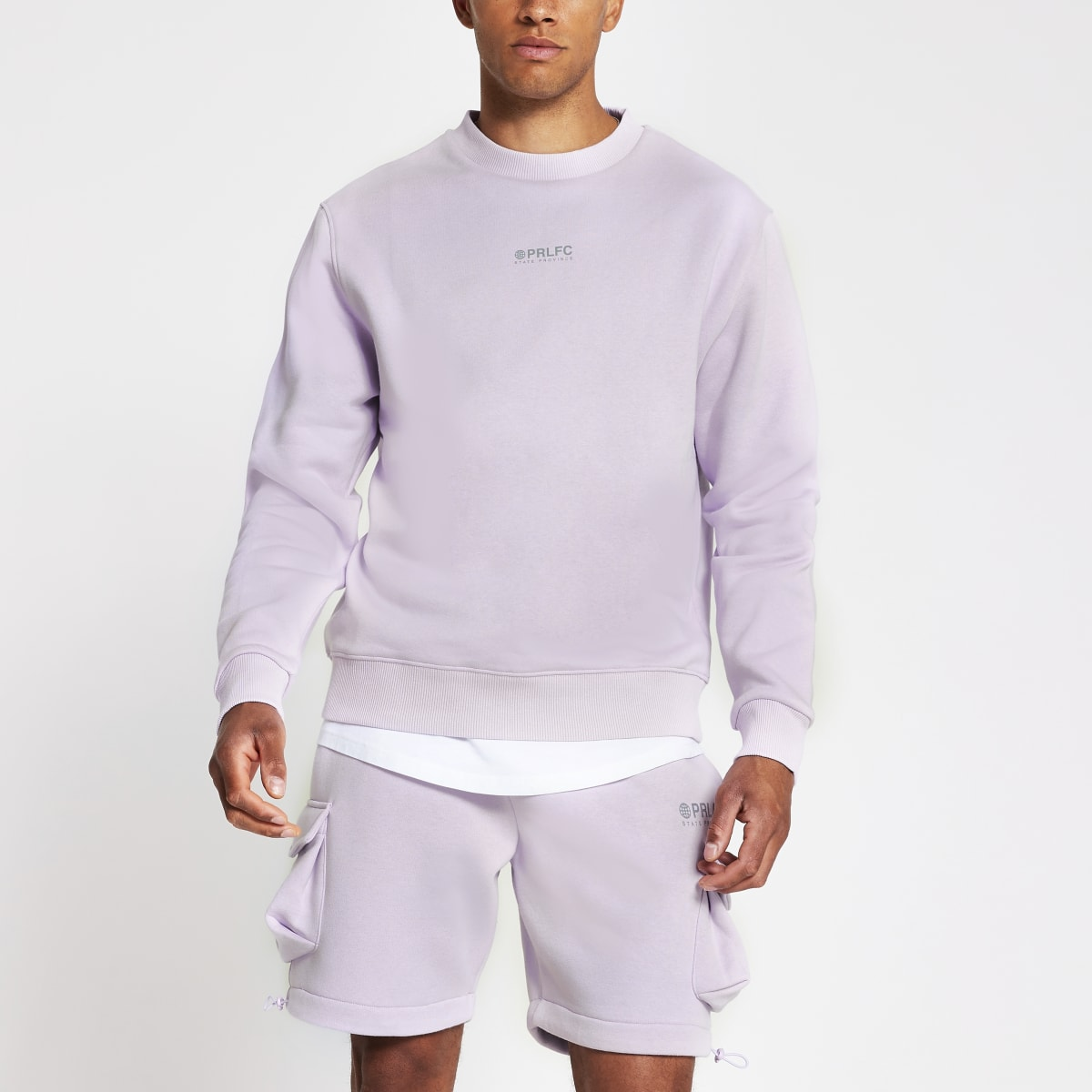Prolific purple reflective sweatshirt