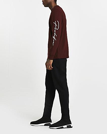 Prolific red regular fit long sleeve t-shirt