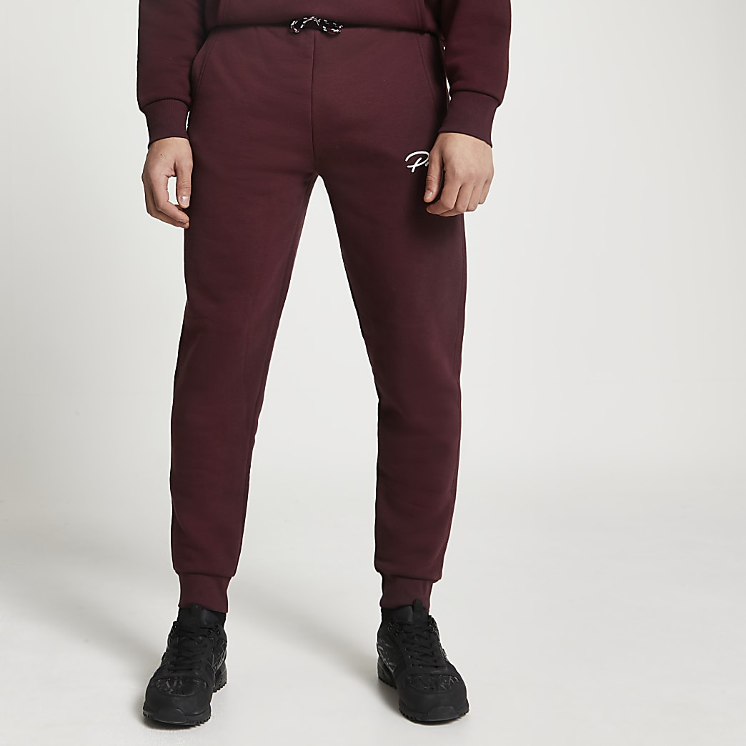 Prolific red slim fit joggers