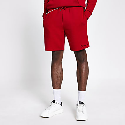 Prolific red slim fit shorts