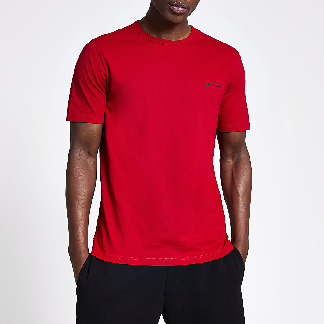 Prolific red slim fit T-shirt
