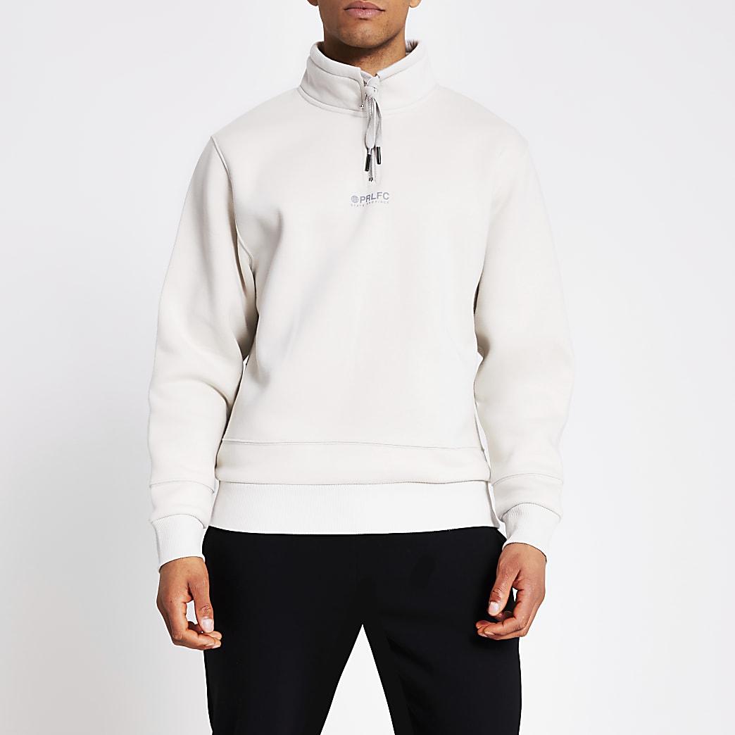 Prolific stone half zip sweatshirt