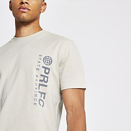 Prolific stone print slim fit t-shirt