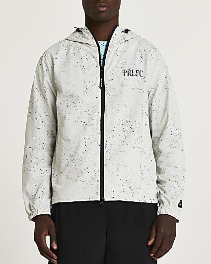Prolific stone regular fit hooded jacket