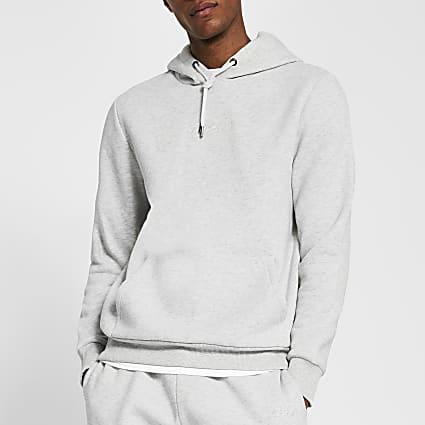 Prolific stone slim fit hoodie