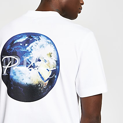 Prolific white back print regular fit t-shirt