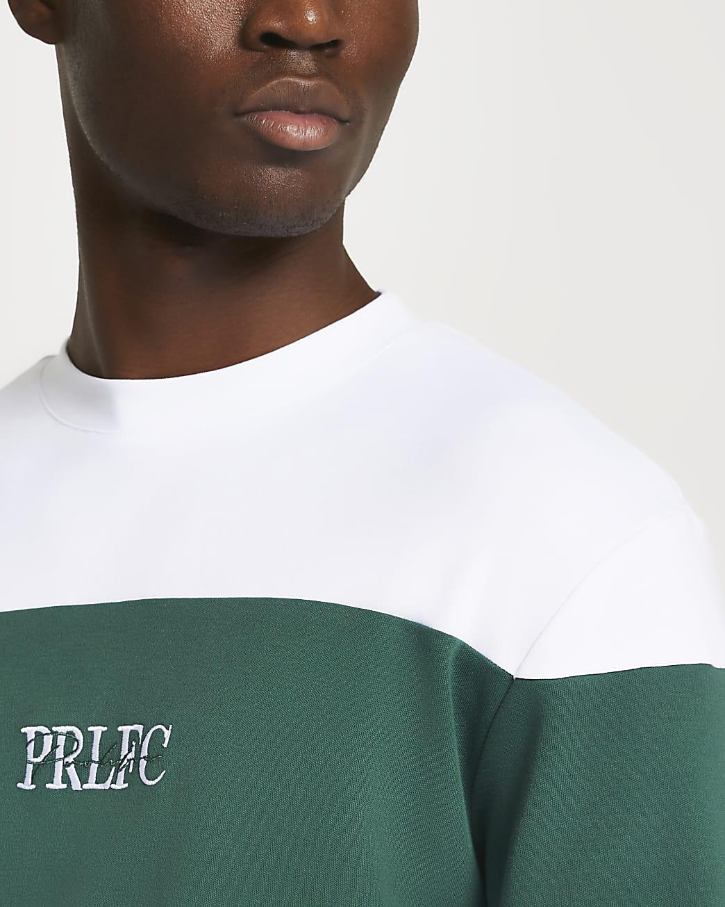 Prolific white blocked long sleeve t-shirt