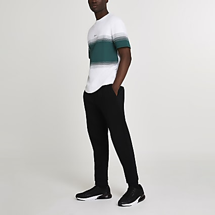 Prolific white colour block t-shirt