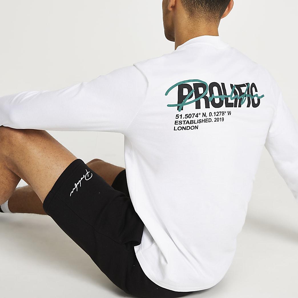 Prolific white long sleeve t-shirt