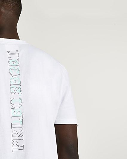 Prolific white regular fit active t-shirt
