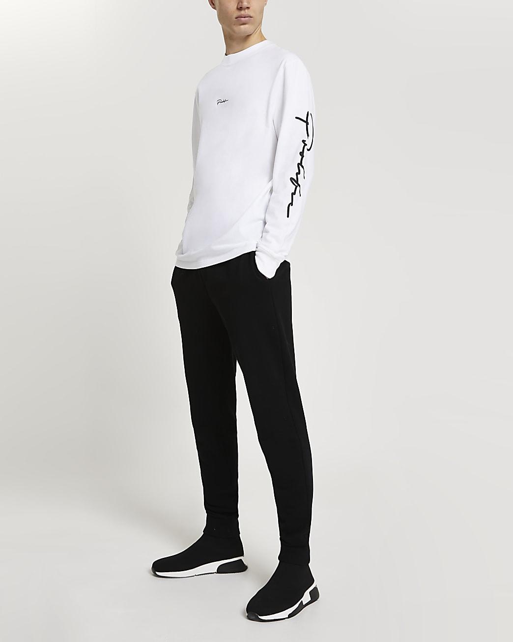 Prolific white regular long sleeve t-shirt