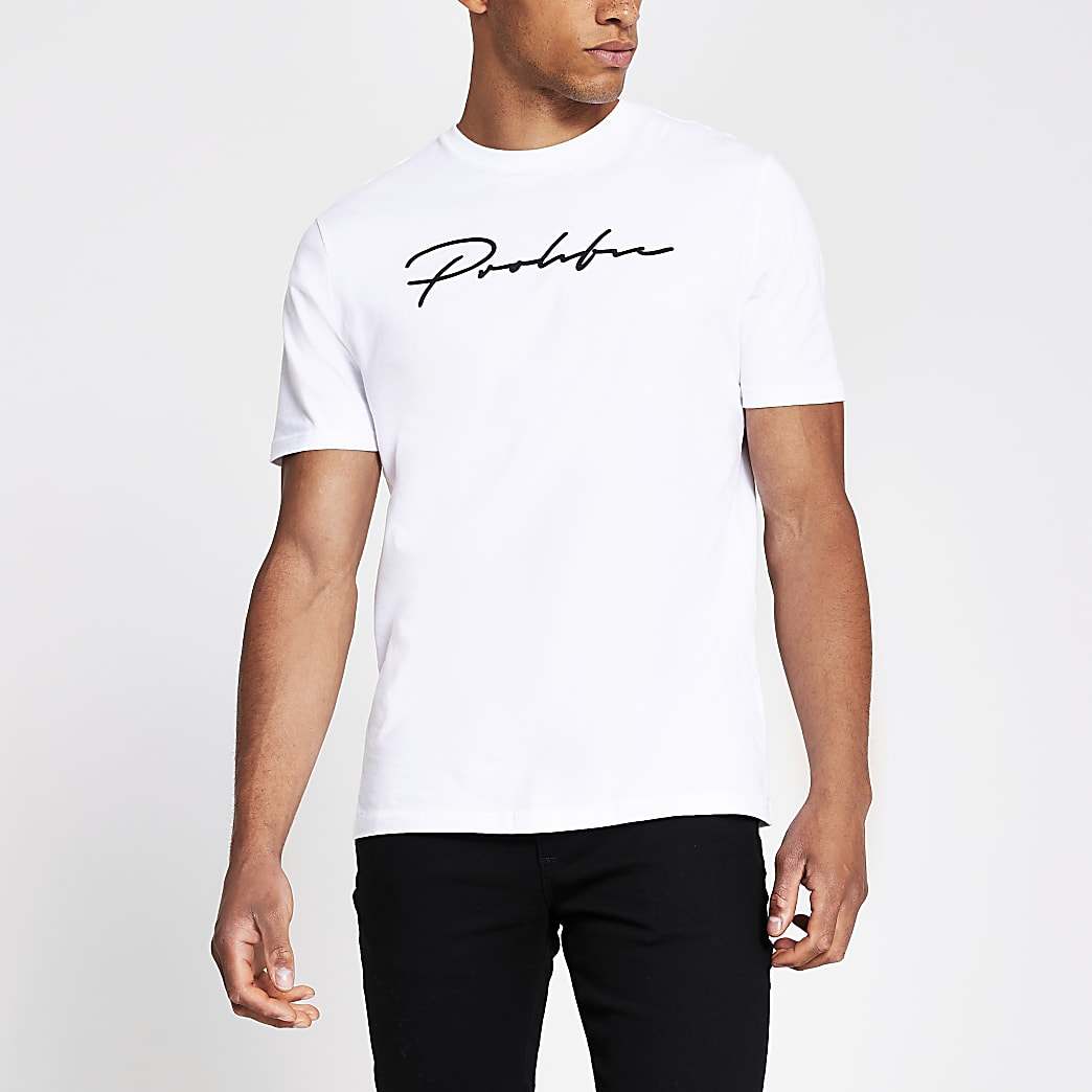 Prolific white short sleeve slim fit T-shirt