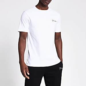 Prolific - Wit slim-fit T-shirt met korte mouwen