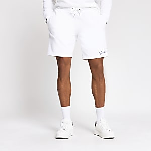 Prolific white slim fit shorts