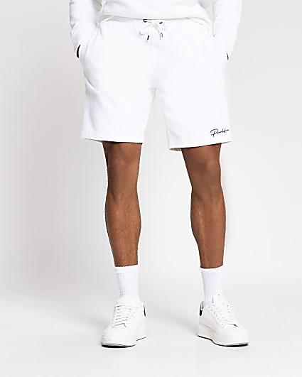 Prolific white slim fit shorts